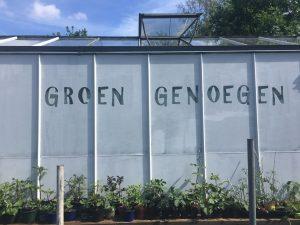 Kwekerij Groen Genoegen verkoopt plantjes op volkstuin Nut en Genoegen in het Westerpark.