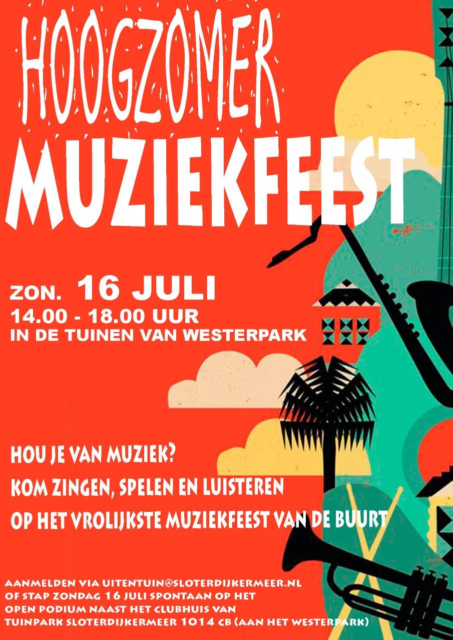 Muziekfeest op de tuinen van Westerpark